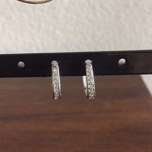 Sterling silver with cz earrings